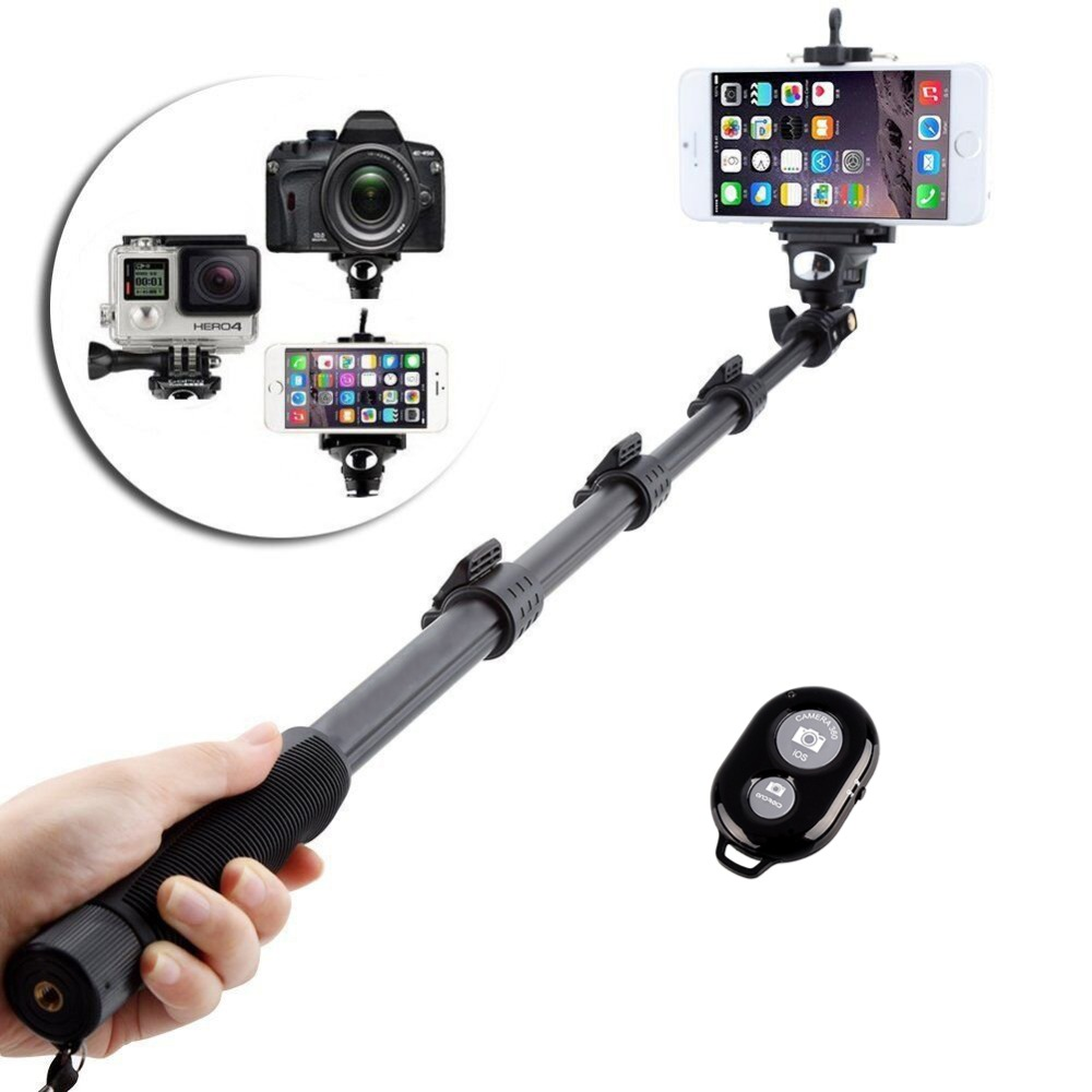 3 in 1 yunteng 188 selfie stick with bluetooth remote self control wireless mobile phone tripod. Black Bedroom Furniture Sets. Home Design Ideas